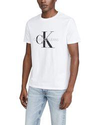 Calvin Klein Monogram Cotton T-shirt - White
