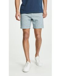 Club Monaco - Baxter Chambray Shorts - Lyst