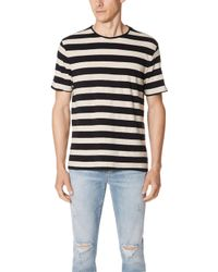 Vince - Striped Crew Tee - Lyst
