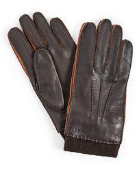 Paul Smith Deerskin Gloves - Brown