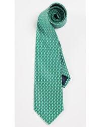 Ferragamo Drink Print Tie - Green