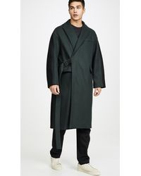 Maison Kitsuné Wrap Coat - Black