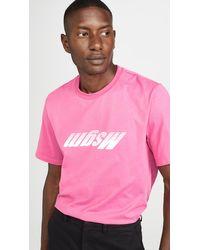 MSGM - Upside Down Fast Logo Tee Shirt - Lyst