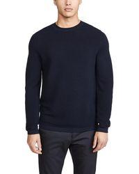 Theory Washable Merino Crew Neck Sweater - Blue
