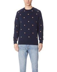 Maison Kitsuné - Fox Head Patch Embroidery Sweatshirt - Lyst