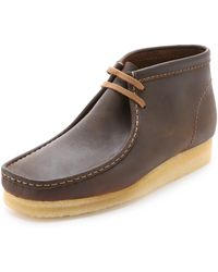 Clarks - Wallabee Leather Chukka Boots - Lyst