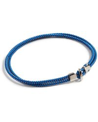 Miansai Orson Loop Bungee Rope Bracelet - Blue