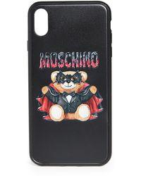 Moschino Teddy Xs Max Iphone Case - Black