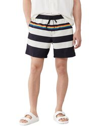 Vans Pride Collection Striped Volley Shorts - Black