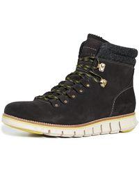 Cole Haan Zerogrand Waterproof Hiker Boots - Black