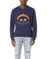 KENZO - Eye Crew Sweatshirt - Lyst