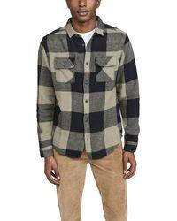 RVCA Haywire Flannel Plaid Long Sleeve Shirt - Green