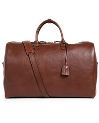 Lotuff Leather No.12 Leather Weekender Bag - Brown