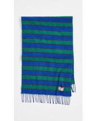 KENZO - Stripy Wool Stole Scarf - Lyst