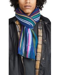 Paul Smith Lionel Reversible Scarf - Blue