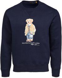 Polo Ralph Lauren Magic Fleece Long Sleeve Jumper - Blue