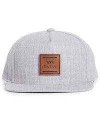RVCA All The Way Snapback Hat - Gray