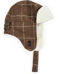 Paul Smith Check Trapper Hat - Natural
