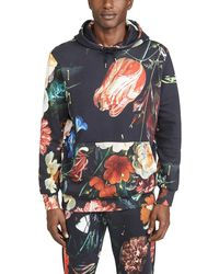 Paul Smith Gents Still Life All Over Print Hoodie - Multicolor