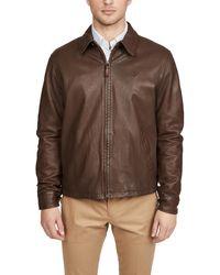 Polo Ralph Lauren Leather Windbreaker - Brown