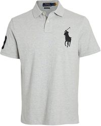 Polo Ralph Lauren Big Pony Mesh Custom Slim Fit - Gray