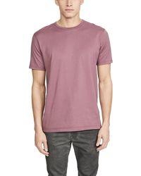 Sunspel Short Sleeve Classic Crew Neck T-shirt - Purple