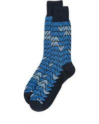 Emporio Armani - Mercerized Premium Cotton Socks - Lyst
