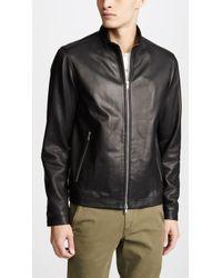 Theory - Morvek Lkelleher Leather Jacket - Lyst