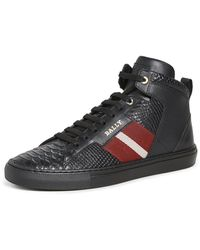 Bally Men's Hedern Trainspotting Croc-embossed High-top Trainers - Black