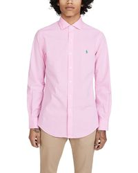 Polo Ralph Lauren Long Sleeve Slim Shirt - Pink