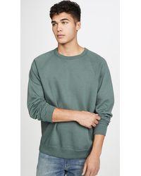 Save Khaki - Long Sleeve Heather Fleece Crew Neck Sweatshirt - Lyst