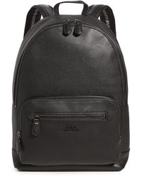 Polo Ralph Lauren Smooth Leather Backpack - Black