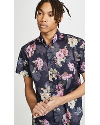 Naked & Famous - Easy Shirt - Flowers Painting - Lyst