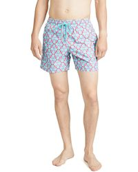 Vilebrequin Cherry Blossom Turtles Moorea Swim Trunks - Blue