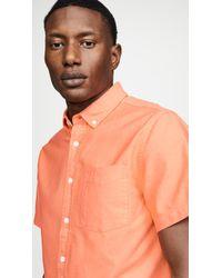 Saturdays NYC Esquina Oxford Shirt - Orange