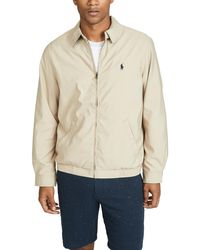 Polo Ralph Lauren Bi-swing Windbreaker Jacket - Natural