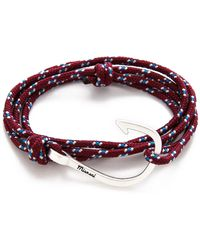 Miansai Hooked Rope Wrap Bracelet - Metallic