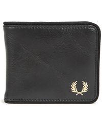 Fred Perry Tonal Classic B'fold Wallet - Black