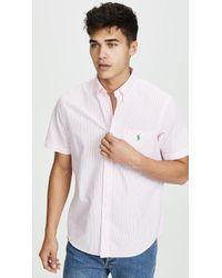 Polo Ralph Lauren Short Sleeve Seersucker Shirt - White