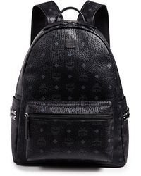 MCM Stark Medium Side Stud Backpack - Black