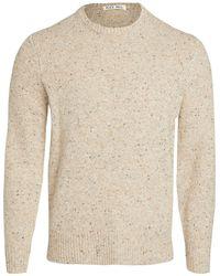 Alex Mill Donegal Wool Raglan Jumper - Natural