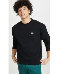 Obey All Eyez Pullover Crew Neck Sweatshirt - Black