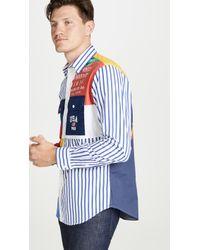 Polo Ralph Lauren Chariots Patchwork Shirt - Blue