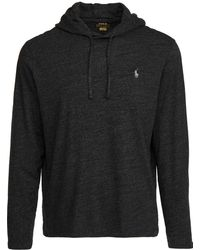 Polo Ralph Lauren Long Sleeve Hooded Tee - Black