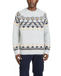 WOOD WOOD Gunther Fair Isle Jumper - Gray
