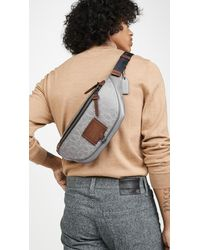 COACH Signature Rivington Belt Bag - Gray