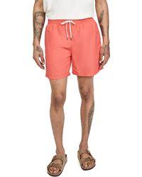 Polo Ralph Lauren Solid Traveller Swim Shorts - Red
