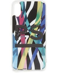 PS by Paul Smith Neon Print Iphone X Case - Black