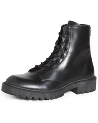 KENZO Pike Lace Up Boots - Black