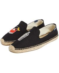 Soludos X Lucy Mail Negroni & Shaker Espadrilles - Black